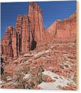 Fisher Towers Amphitheater Wood Print