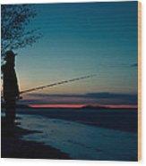 Fisherman And A Star Wood Print