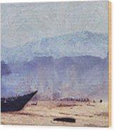 Fisherman Boat On The Goan Coast. India Wood Print