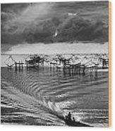 Fisherman Returns Home Wood Print