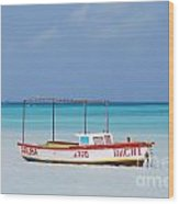 Fisherman's Beach In Aruba Wood Print