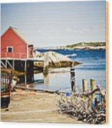 Fisherman's Cove Wood Print