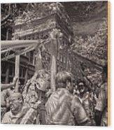 Fisherman's Feast North End Of Boston Wood Print by Joann Vitali