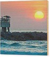 Fisherman's Sunrise Wood Print
