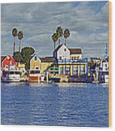 Fisherman's Village Marina Del Rey Ca Wood Print
