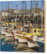 Fishermans Wharf San Francisco Wood Print
