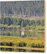 Fishing At George Town Lake Wood Print