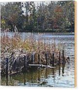 Fishing At Weeks Bay Wood Print