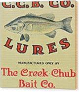 Fishing Bait Advertising Sign Wood Print by Randy Steele