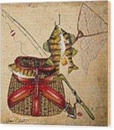 Fishing Basket  Wood Print