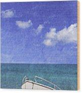 Fishing Boat Algarve Portugal Wood Print