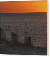 Fishing Boat And The Sunrise Wood Print