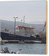 Fishing Boat Apostolos - Samos Wood Print