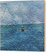 Fishing Boat As A Painting 2 Wood Print
