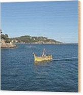 Fishing Boat - Cote D'azur Wood Print