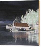 Fishing Boat Dock - Ketchican - Alaska - Photopower 01 Wood Print