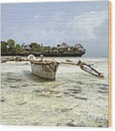 Fishing Boat In Zanzibar Wood Print