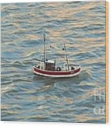Fishing Boat Jean Wood Print