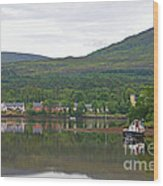 Fishing Boat On Kenmare River West Kerry Wood Print