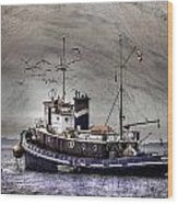 Fishing Boat Wood Print