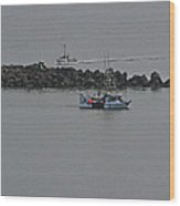 Fishing Boats Almost Home For The Night Wood Print