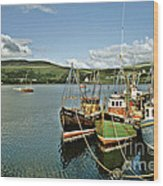Fishing Boats At Uig Skye Scotland 1994 Wood Print by David Davies