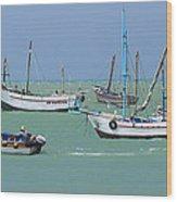 Fishing Boats - Cabo Blanco - Peru Wood Print