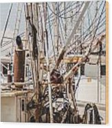 Fishing Boats Equipment Chaos Wood Print