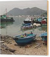 Fishing Boats - Hong Kong Wood Print
