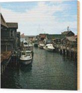 Fishing Boats In Fishtown Wood Print