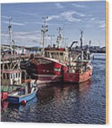 Fishing Boats In Killybegs Donegal Ireland Wood Print