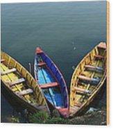 Fishing Boats - Nepal Wood Print