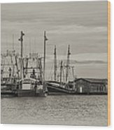 Fishing Boats - Wildwood New Jersey Wood Print