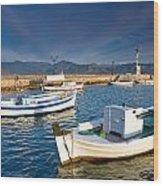 fishing boats 'XIII Wood Print