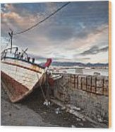 fishing boats 'XVI Wood Print