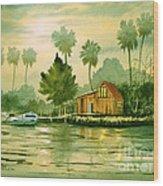 Fishing Cabin - Aucilla River Wood Print