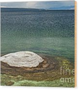 Fishing Cone In West Thumb Geyser Basin Wood Print