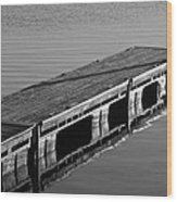 Fishing Dock Wood Print