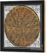 Fishing Dory - Brass Etching Wood Print