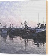 Fishing Fleet Ffwc Wood Print