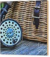 Fishing - Fly Fishing Wood Print