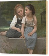 Fishing For Frogs Wood Print by William Bouguereau
