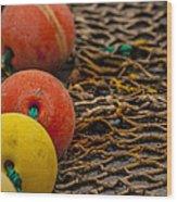 Fishing Gear Abstract Wood Print
