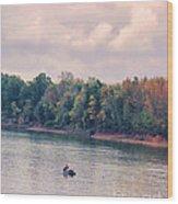 Fishing In Autumn Wood Print by Jai Johnson