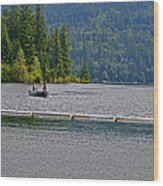 Fishing Lake Merwin Wood Print