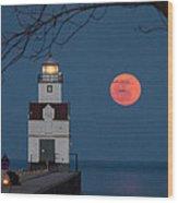 Fishing Light Wood Print