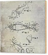 Fishing Lure Patent 1959 Wood Print