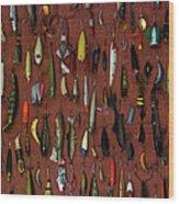 Fishing Lures 01 Wood Print