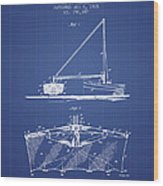 Fishing Net Patent From 1905- Blueprint Wood Print