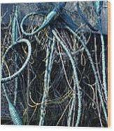 Fishing Net Play   Wood Print by Colette V Hera  Guggenheim